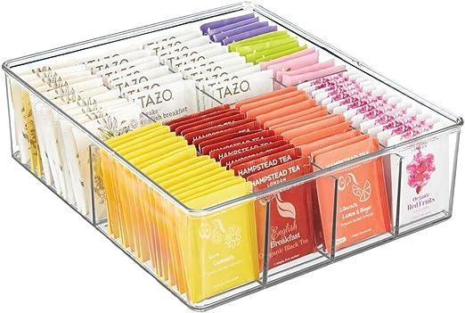 mDesign Caja de almacenaje – Caja organizadora con 8 ...