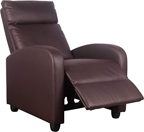 Polar Aurora Massage Recliner Chair PU Leather Vibratory Massage Function Recliner Ergonomic Lounge