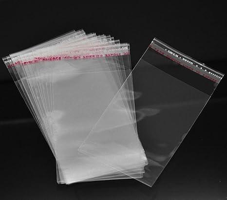 100 bolsas de plástico transparentes de 9 cm x 6 cm con ...