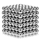 ATESSON Magnetic Sculpture Balls Intellectual Office Toys Anxiety Stress Relief Killing Time Puzzle Creative Educational Toys for Kids Adults (Silver,5mm)
