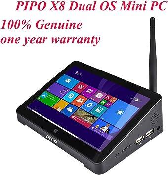 PIPO X8 Smart TV Box 7 Inch 1280x800 1080P Dual Boot Android 4.4 Windows 8.1 Mini PC Intel Z3736F Quad Core 2.16GHz 2G RAM 32G ROM Multi Media Player Device: Amazon.es: Electrónica