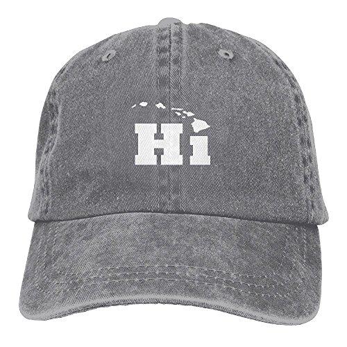 HAIRUIYD Hi Hawaiian Islands Baseball Cap Boys Girls Creative Snapback Hip Hop Flat Hat Adjustable One ()