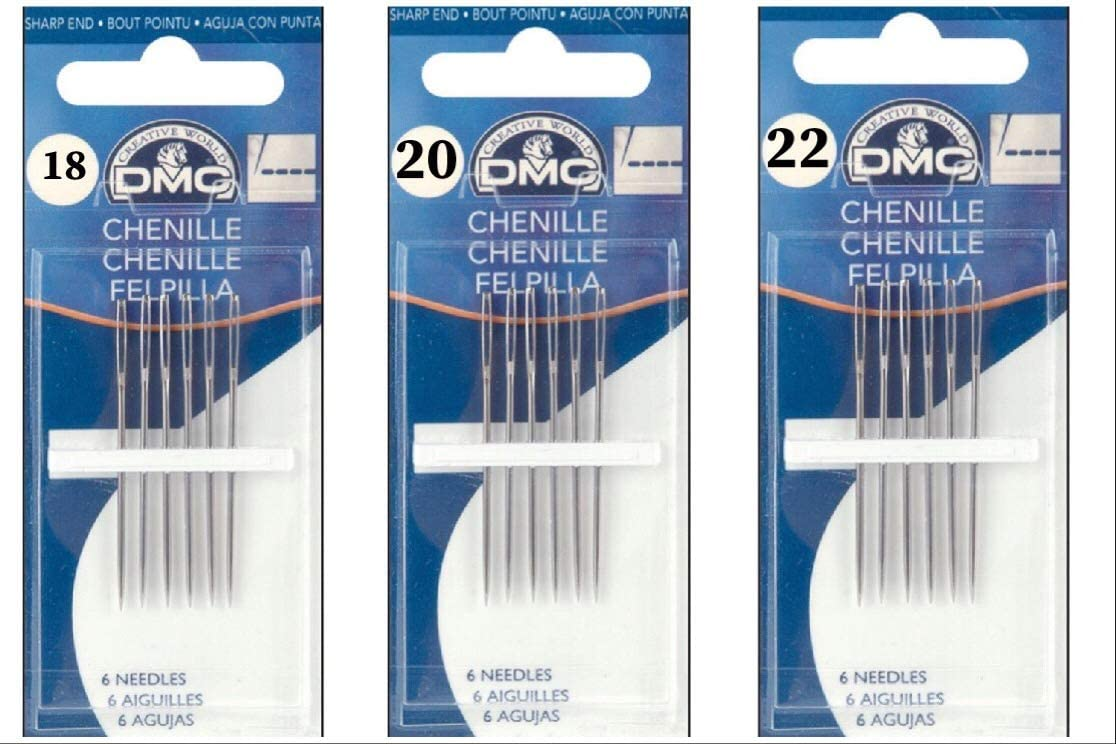 C.S 26 Osborne Pack of 25 Sharp Point Chenille Needles #562 Size 13 to 26