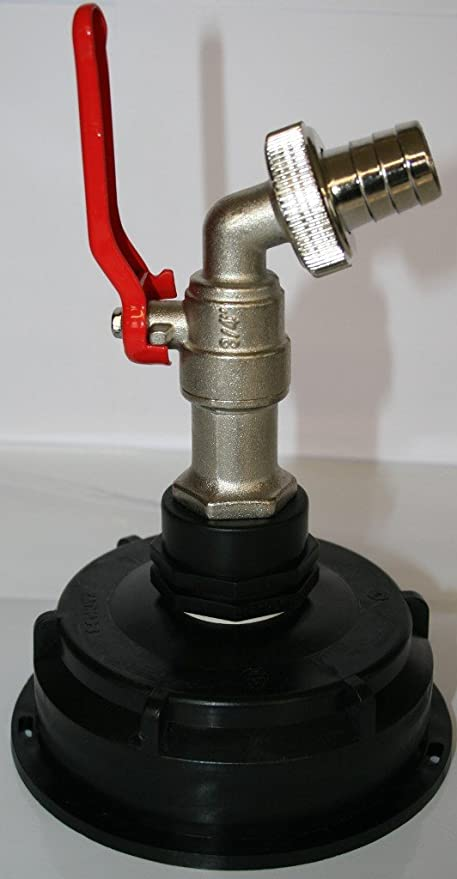 """16548 IBC S-100 Adapter mit Auslaufhahn 3//4/"""" Regenwasser Tank 1000 l"""