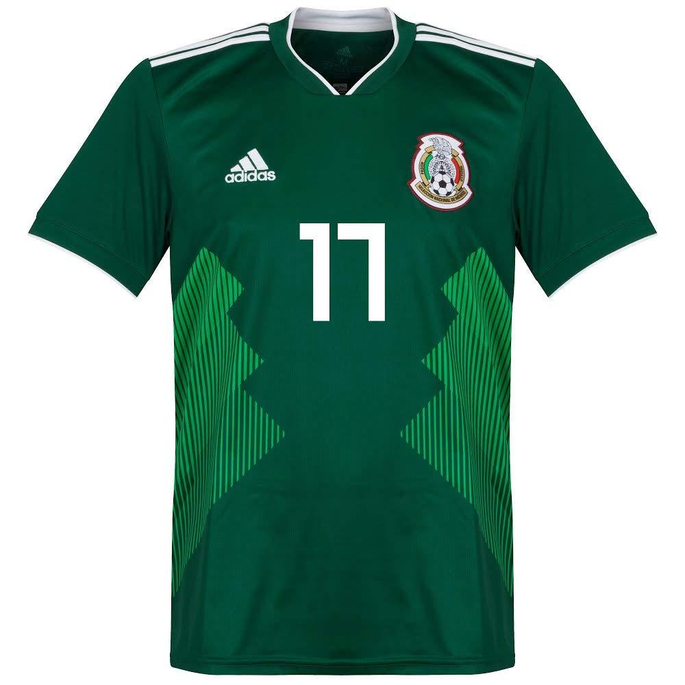 84299e3de 17 Jersey 2018/2019 Official Printing - XS Mexico Home Jesús C