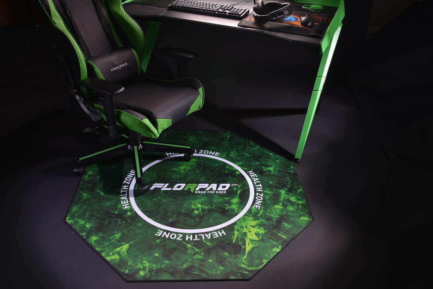 Florpad - Health Zone - Tapete protector para el piso y la alfombra de la silla de juego para el escritorio en el hogar - Resistente al agua - Apto para ...