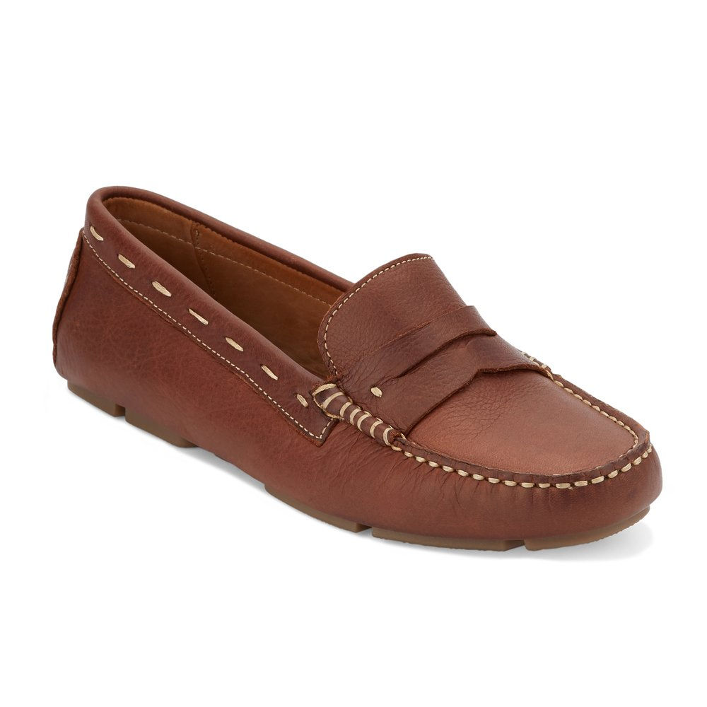 G.H. Bass & Co. Women's Patricia Driving Style Loafer, Brown 235, 7.5 M US