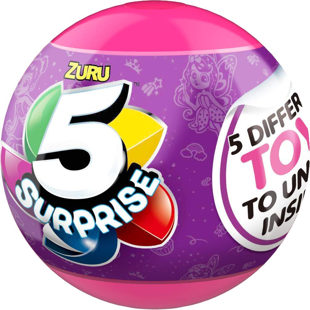 5 Surprise Pink Mystery Capsule Collectible Toy (Wave 2) (4 Pack) by ZURU
