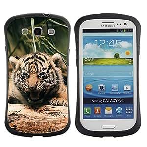ZooCases Premium Shockproof Hybrid Case Samsung Galaxy S3 III i9300 - Cute Fierce Tiger Cub -