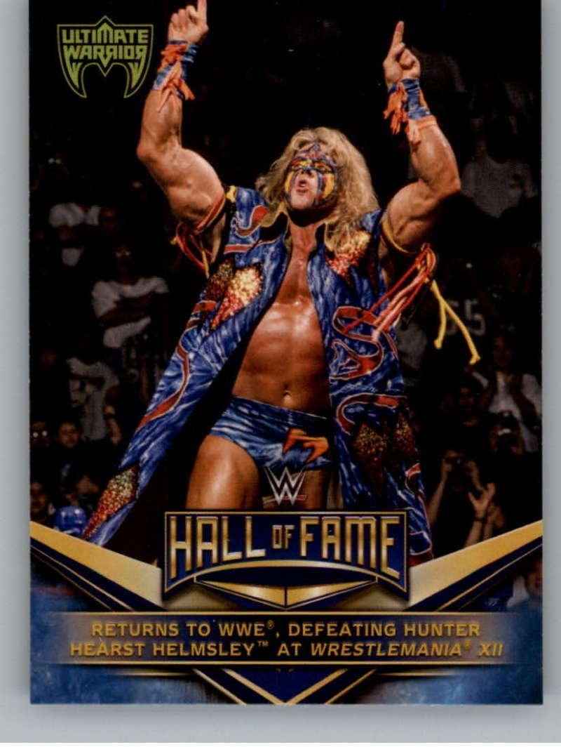 Defeating Hunter Hearst Helmsley 2018 Topps WWE Wrestling WWE Hall of Fame Tribute Ultimate Warrior #18 Returns to WWE
