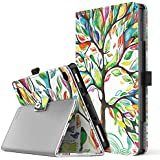 TiMOVO All-New Fire 7 2017 Case (7th Generation, 2017 Release) - Smart Cover Slim Folding Stand Case with Auto Wake/Sleep Function for Amazon Fire 7 Inch Tablet, Lucky Tree