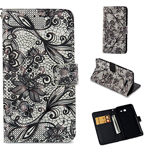 (Samsung Galaxy J3 Emerge/J3 2017/J3 Prime/J3 Mission/J3 Eclipse/J3 Luna Pro/Amp Prime 2/Express Prime 2 Case, UZER 3D PU Leather Kickstand Cash/Card Slots Durable Magnetic Wallet Case)