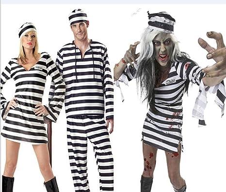 GYH Disfraz De Preso Traje De Prisionero Convicto para Adultos ...