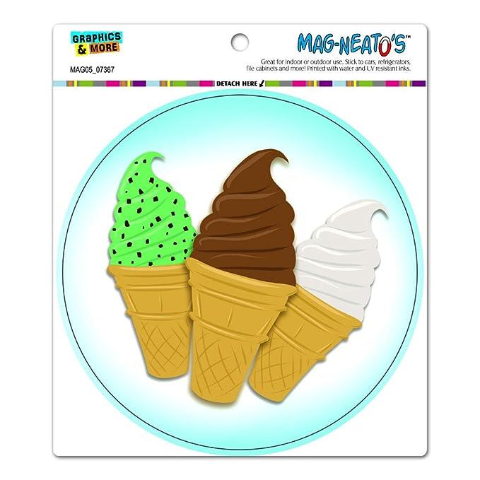 graphics and more ice cream cones chocolate vanilla mint chip
