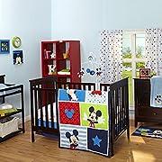 Disney Mickey Mouse 3 Piece Crib Bedding Set