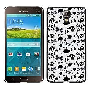 Caucho caso de Shell duro de la cubierta de accesorios de protección BY RAYDREAMMM - Samsung Galaxy Mega 2 - Wallpaper trueno Relámpago Skulls Estrella