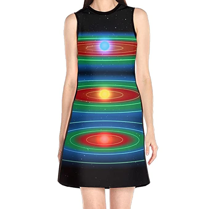 73f38832f836 Girl Dresses Sexy Dress, Space Galaxy Stars Spring Dresses, Vintage Dress  for Women Girls Mothers Day Gifts at Amazon Women's Clothing store: