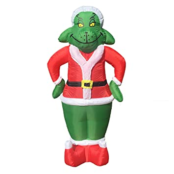 7 foot party inflatable grinch blow up yard decoration
