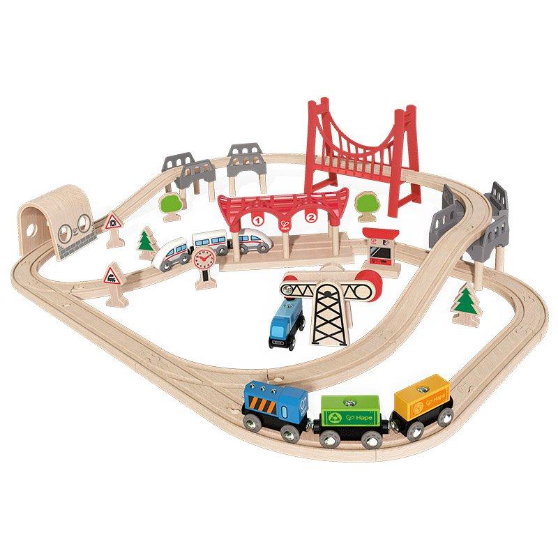 en stock Hape - Circuito de Tren Puentes y túneles túneles túneles Double Loop (Barrutoys E3711)  muchas concesiones