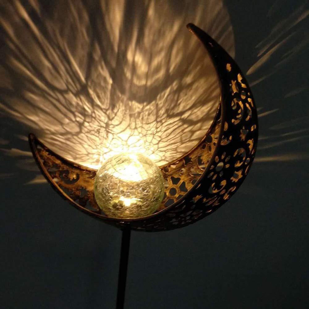 Halloween ABEDOE Lampada da Esterno a Forma di Luna Vuota,Cortile di Via Della Decorazione del Riflettore della Lampada del Paesaggio Solare Impermeabile per Natale LED Luce Solare del Giardino
