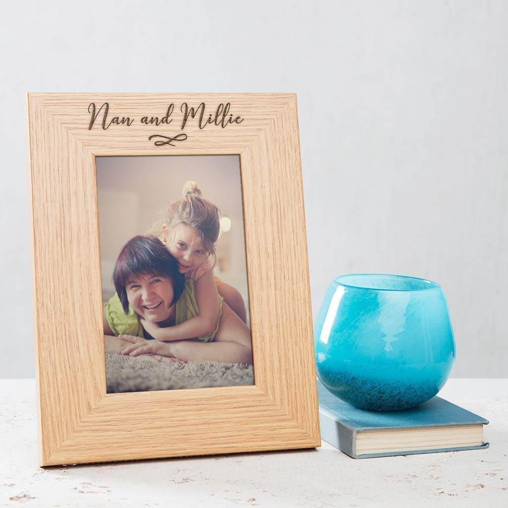 Engraved 22cm Rectangle Vase Gran Nan Nannie Mama Christmas Gift Present