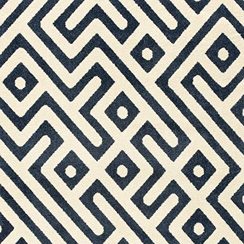 Hanover HANRG79SQGK-BLU 79-Inch Square 5000 Hours of UV Protection-Greek Key Royal Blue Indoor/Outdoor Backless Rug (Rug Greek Outdoor Key)