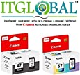 CANON PG 47 Black & CL 57 Color [Set of 2 Cartridge] -Special ITGLOBAL Combo With Scratch & Win Reward Offer - From ITGLOBAL