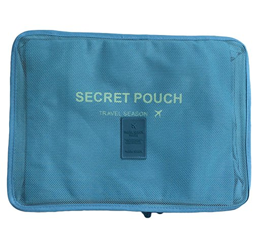 Waterproof 5-Piece Packing Bags (Sky Blue) - 3