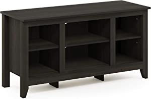 FURINNO Jensen TV Stand with Shelf, Espresso