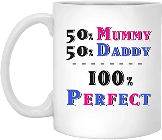 Amazon Com Getysora Mummy Daddy Perfect S Fathers Day Mothers Day Gifts Baby Shower Daughter Son Mum Dad Christmas Birthday Presents Funny S Mys565 White Mug 01 Wm629 Mug 11oz Kitchen Dining