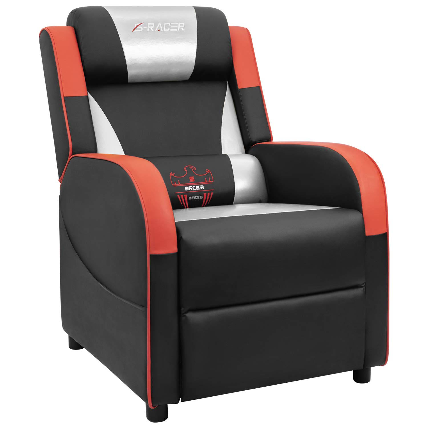 Room Gaming Living Sracer Recliner Homall Leather Seat Seatingsilvery Home Sofa Pu Chair Single Theater TlJK1Fc