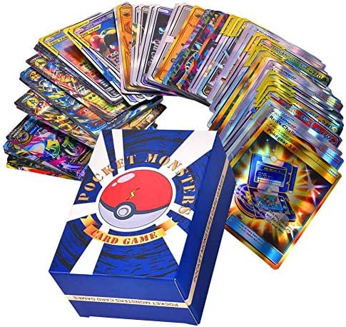 DLMZY Cards Flash Card Games Playing Cards Toys for Kids,Fun Family Games,30 Team Up+50 Mega+20 Trainer+20 Ultra Beast GX