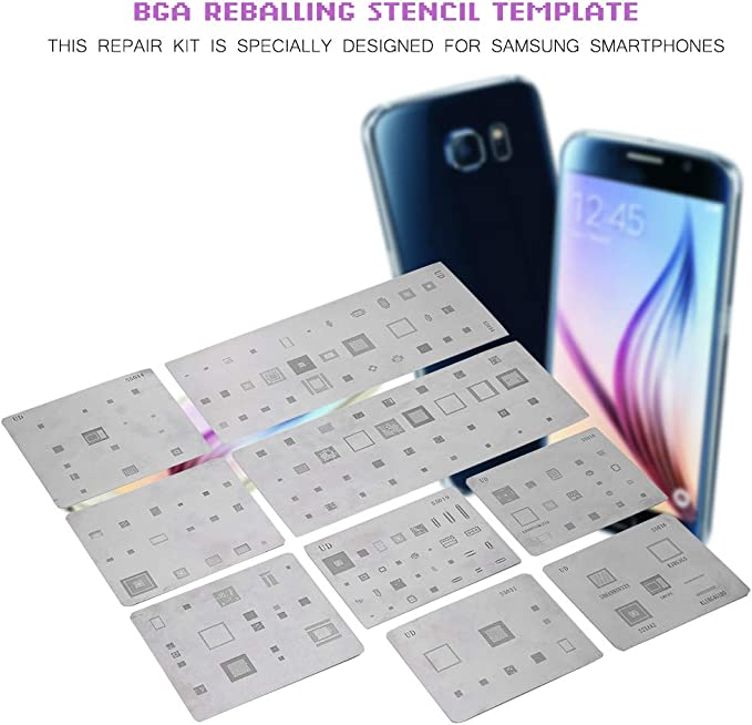 Repair-Kits Mobile Phone Rework Repair BGA Reballing Stencils for Galaxy S7