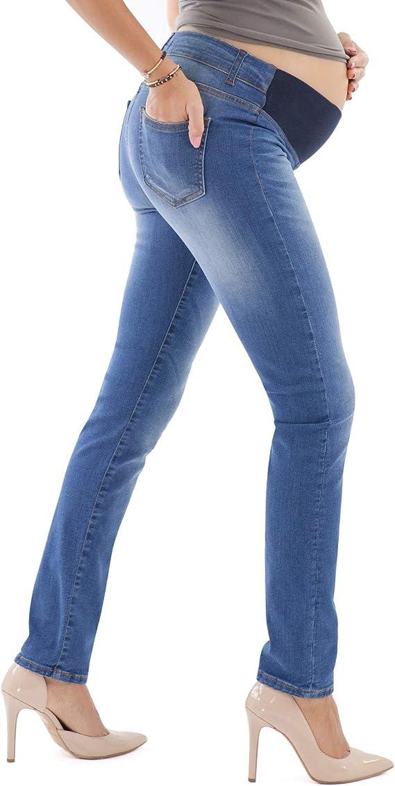 Pantaloni Premaman Slim Colorati Made in Italy MAMAJEANS Venezia Pantaloni Gravidanza in Cotone