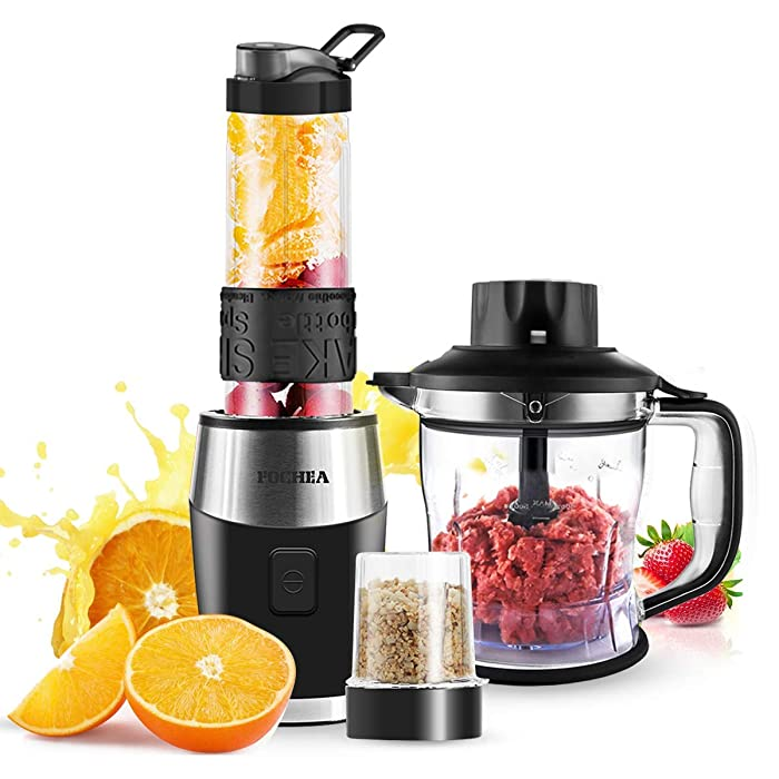 Smoothie Blender, High-Speed Personal Blender for Smoothies and Ice Shakes, 2018 Upgraded 3-in-1 Professional Blender for Mixer / Chopper / Grinder , With 570ml Portable BPA-Free Bottle, 700 Watt