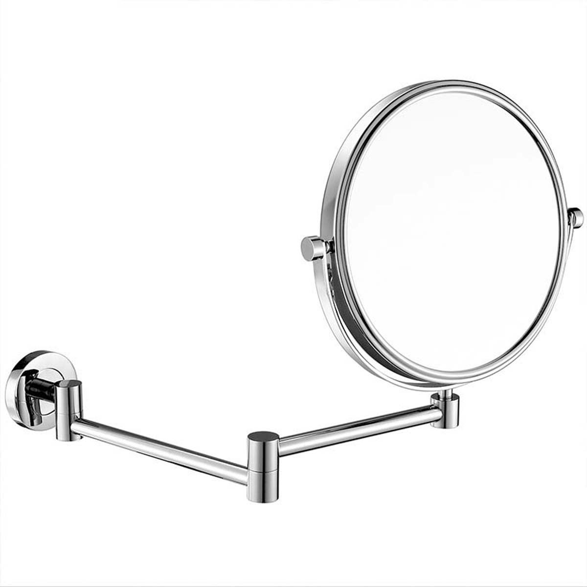 J&A Cosmetic mirror, bronze 3x magnifying mirror, folding bathroom shaving mirror, concealed light base by J&A