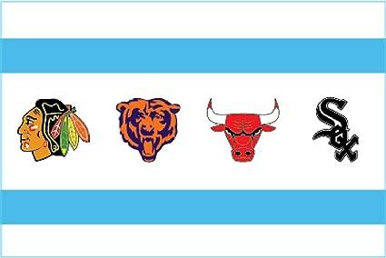 Amazon chicago flag sport 4x6 sticker decal vinyl blackhawks chicago flag sport 4quotx6quot sticker decal vinyl blackhawks white sox bears bulls voltagebd Gallery
