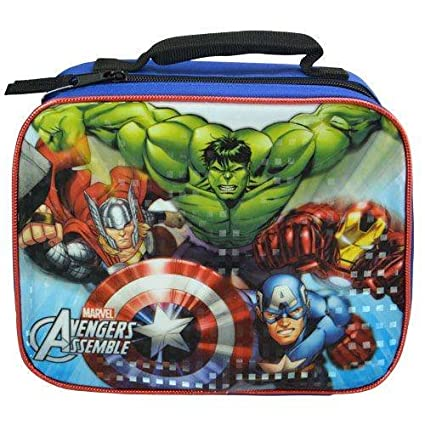 a0344a764fff Amazon.com: Marvel Avengers Assemble Insulated Lunch Box Bag for ...