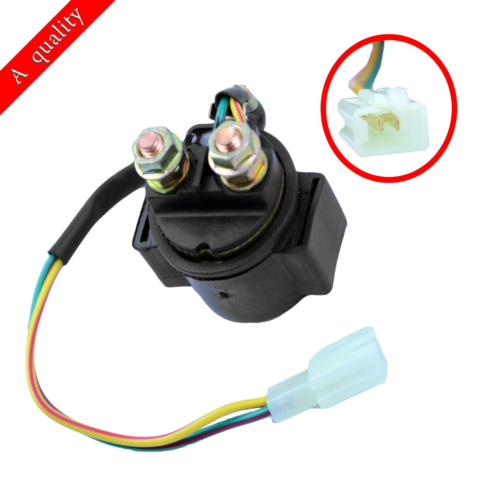 FLYPIG Starter Solenoid Relay for 4-stroke GY6 Engine 50cc 70cc 90cc 110cc 125cc 150cc 200cc 250cc ATV Dirt Bike Scooter Go Kart Dune Buggys Quad 4 Wheelers Pit Bike Moped Roketa SSR Taotao Sunl Coolster ATV-PARTS