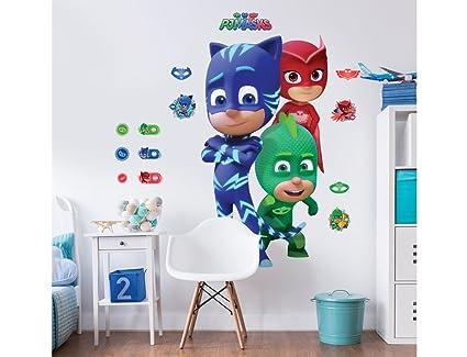 PJ Masks Walltastic, Adhesivos de Gran tamaño para tu habitación,, Grande