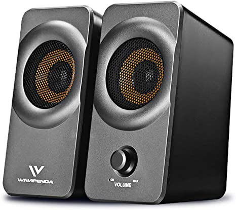 Covok - Altavoz USB portátil, Color Gris, sin Bluetooth, Audio HD, Sonido estéreo, subwoofer para Exterior/casa/Coche/Viaje, para PC/Smartphone/TV 1 pcs Gris: Amazon.es: Electrónica