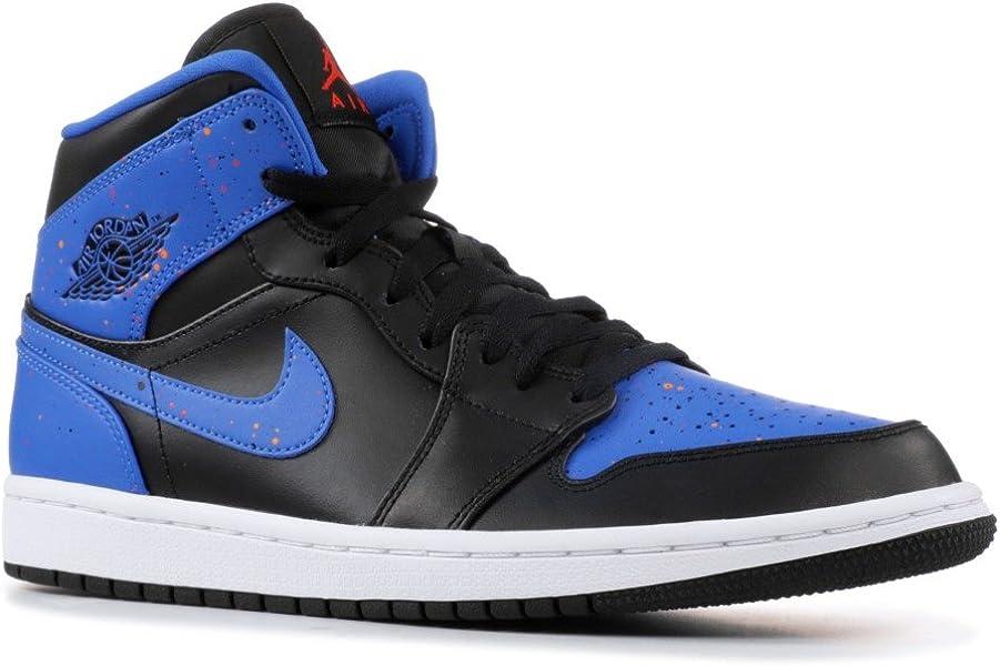 dddbeeb7559c Nike Mens Air Jordan 1 Mid Royal Paint Splatter 554724-048 Size 11