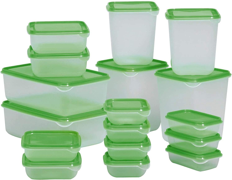 Luna&Muni Food Container, Green Food Storage Set Food Storage Container Set Organization and Storage