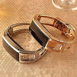 ARBUYSHOP Moda D8 Bluetooth elegante reloj de pulsera SmartBand sincronización llamada de teléfono / podómetro / Anti-perdida para Samsung HTC Android Smartphones, Oro, Plata