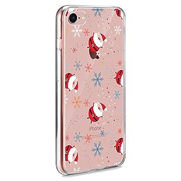 AROYI Funda iPhone 7/8, TPU Cárcasa Silicona Transparente Navidad ...
