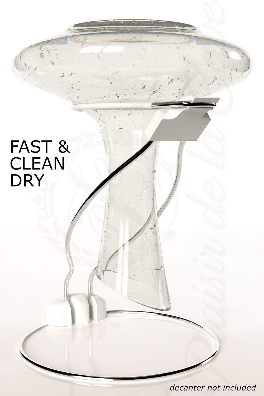 Plaisir de la Cave 2in1 Wine Decanter Drying Stand incl Fast Spotless Carafe Dryer /& Compact Folding Rack for Safe Storage Non Slip /& Anti Scratch Black Rubber Top