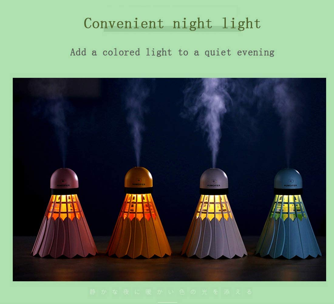 night can be a night light bedside or other places. Rorsche badminton humidifier White 12 hours of long-lasting moisturizing living room you can put it on the babies kids room bedroom