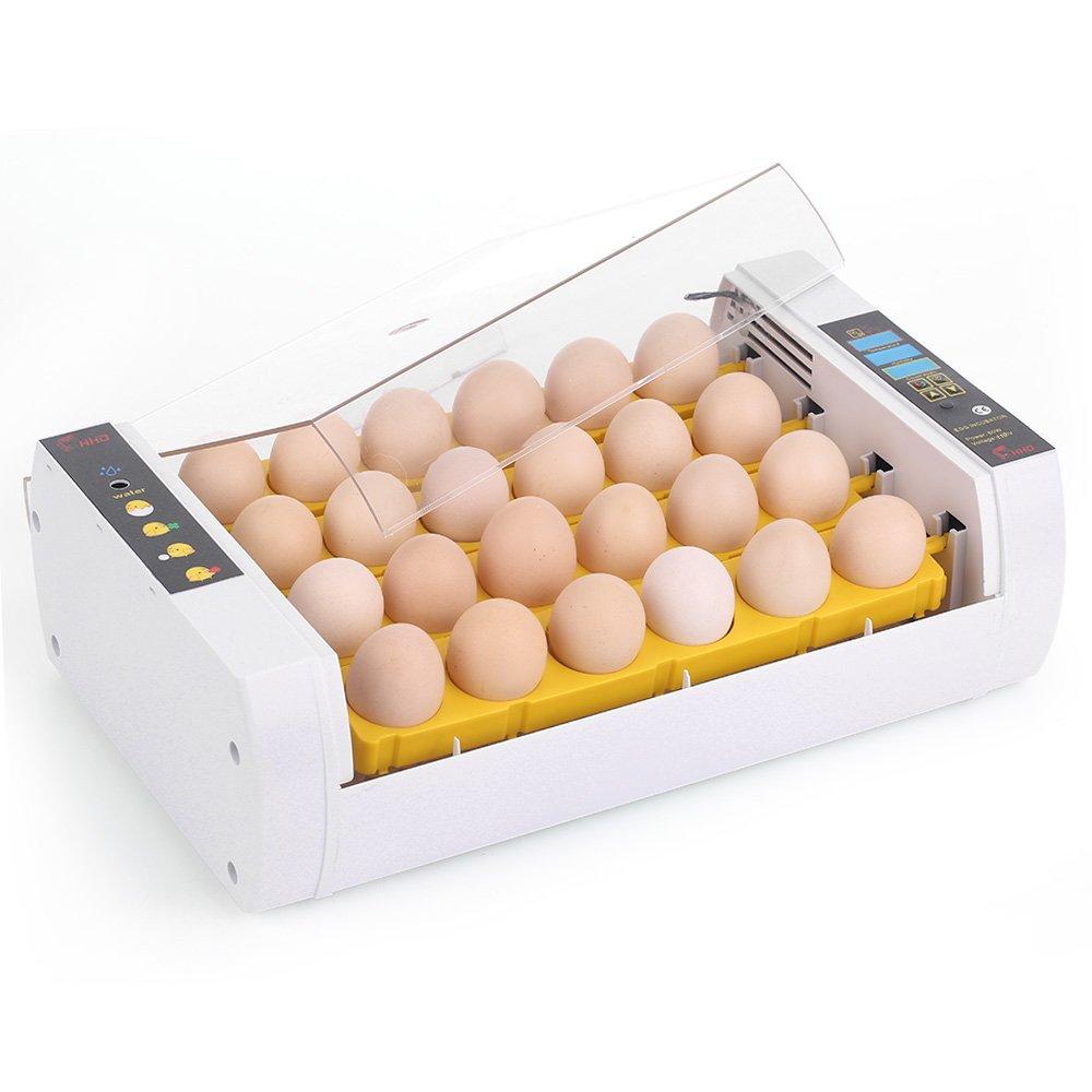 Decdeal Intelligent Egg Incubator 24-Eggs Poultry Hatcher for Hatching Chicken Duck Bird Quail