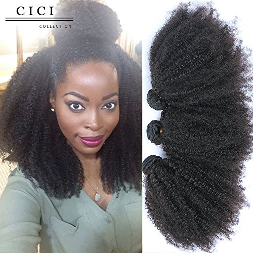 Beauty : Cici Collection Mongolian Kinky Curly Virgin Hair 4B 4C 3Pcs Mongolian Afro Kinky Curly Hair Bundles Curly Weave Human Hair (16 16 16, 4B 4C Curl)