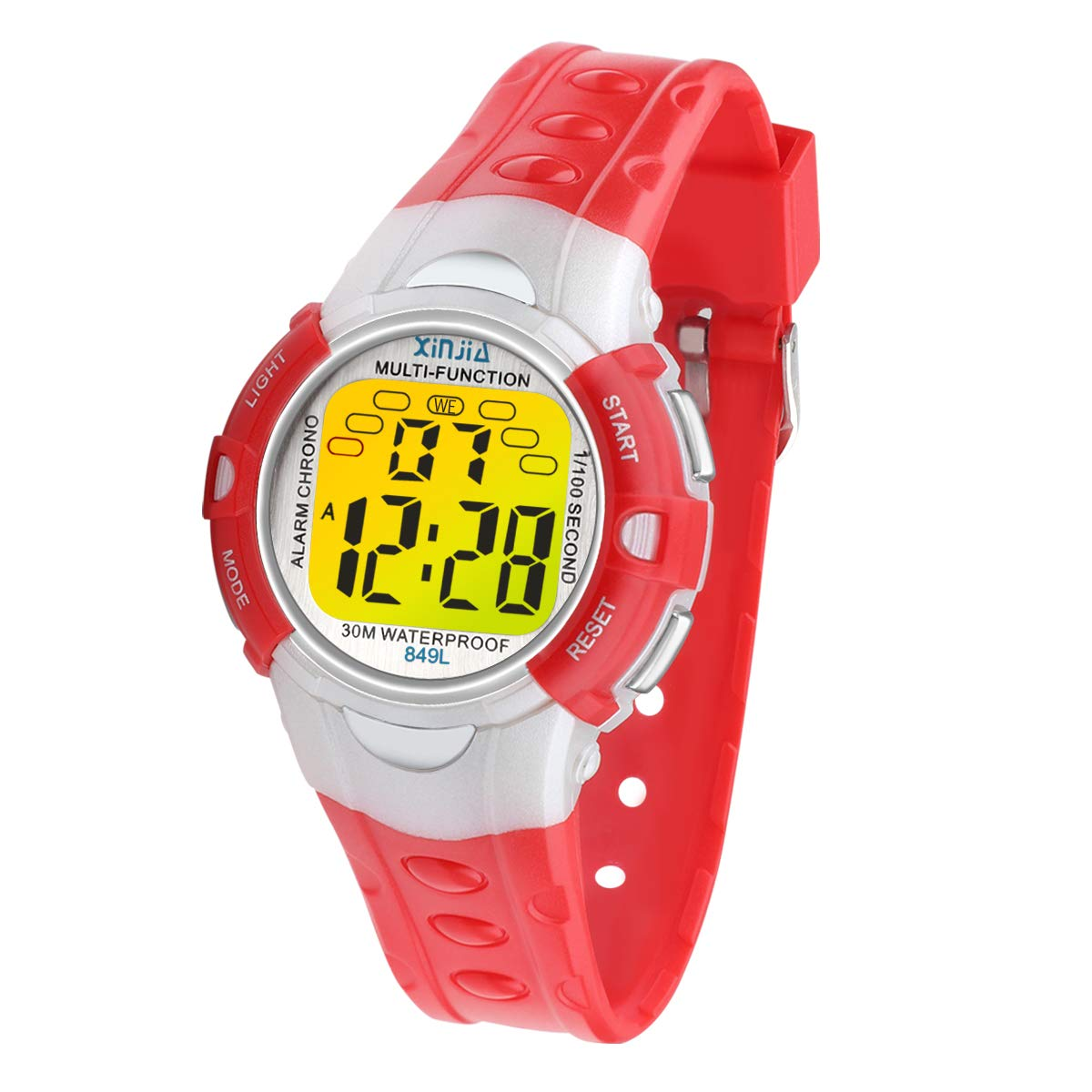 Digital Watches for Kids, 7 Colors LED Light Boys Girls Watch Waterproof Sports Watches Digital Watch for Children Gift 2-14 Years Old